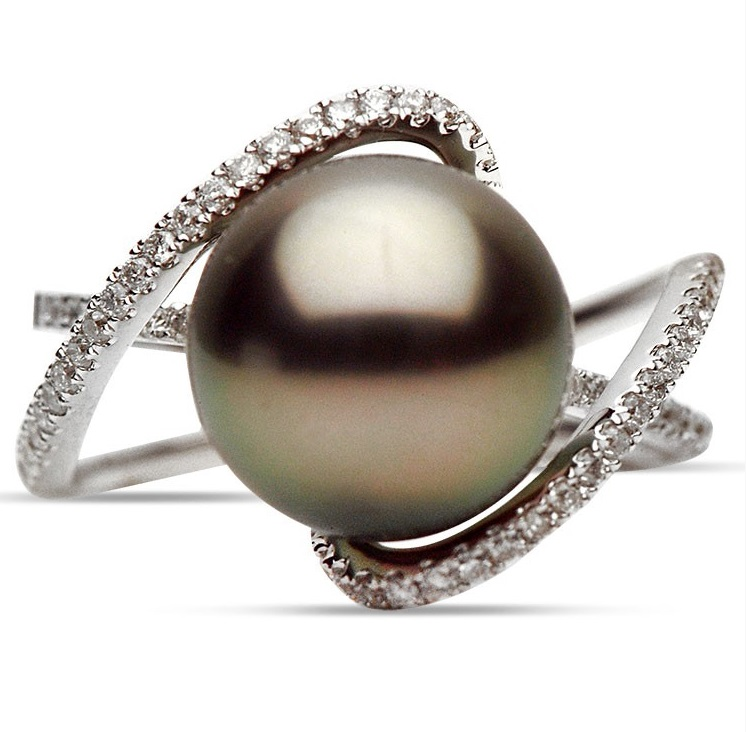 adco tahitian pearl and ring